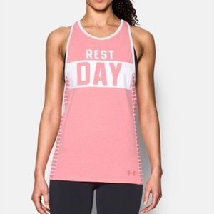 NWT // Under Armour Pink Rest Day Tank